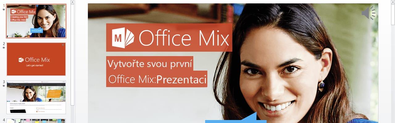PowerPoint doplněk Office Mix