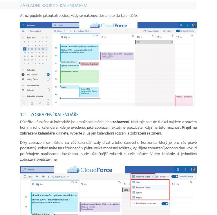 Kalendář v Outlooku Online